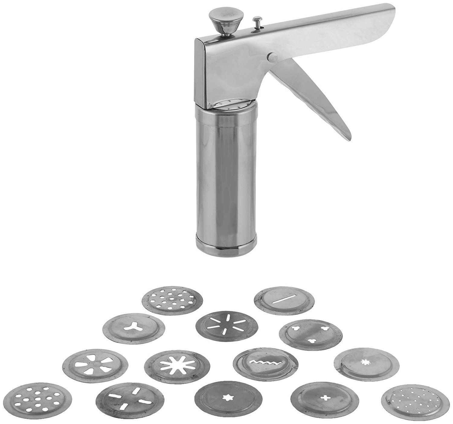 Buy Floraware Stainless Steel Kitchen Press Set, 15-Pieces, Silver ...
