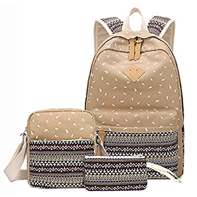 8ebfcf5ee8 new YEFER Canvas School Bags for Teenage Girls Set School backpack Womens  Daypacks