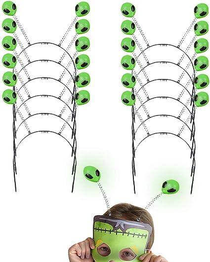 Glow Alien Bopper 12 Diademas Extraterrestres Brillantes De 10 0 In Para El Exterior Antena Perfecta Para Accesorios De Disfraces De Halloween Trick Or Treat Fiestas De Creepy Ufo Y