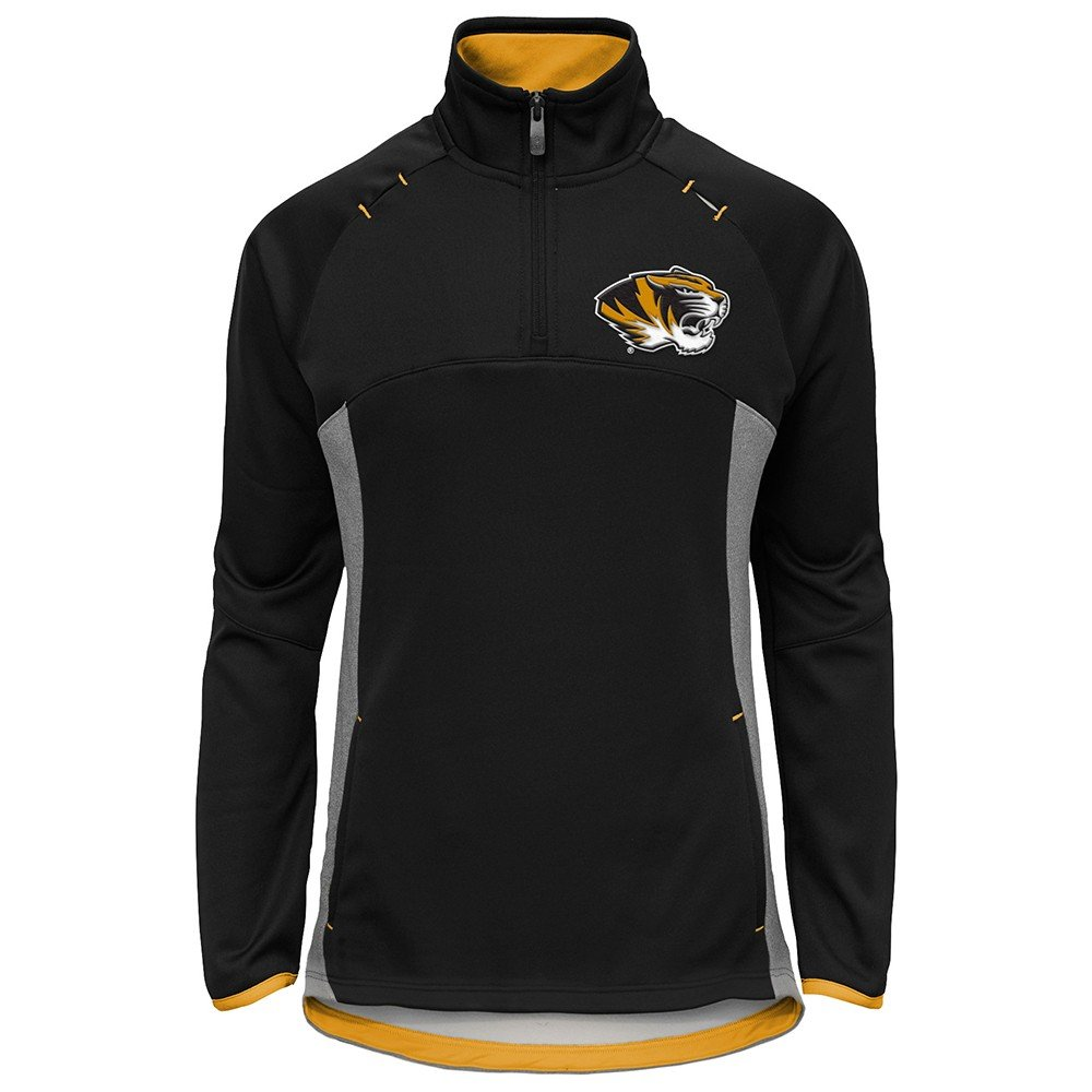 Outerstuff Missouri Tigers NCAA Extreme Team Logo 1/4 Zip Pullover Jacket Girls Youth by Outerstuff