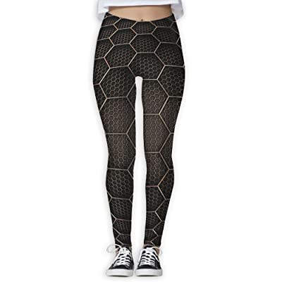 Hexagons Inside Abstract Women's Compression Pants Sports Leggings Tights Baselayer Trousers For Yoga&Fitness