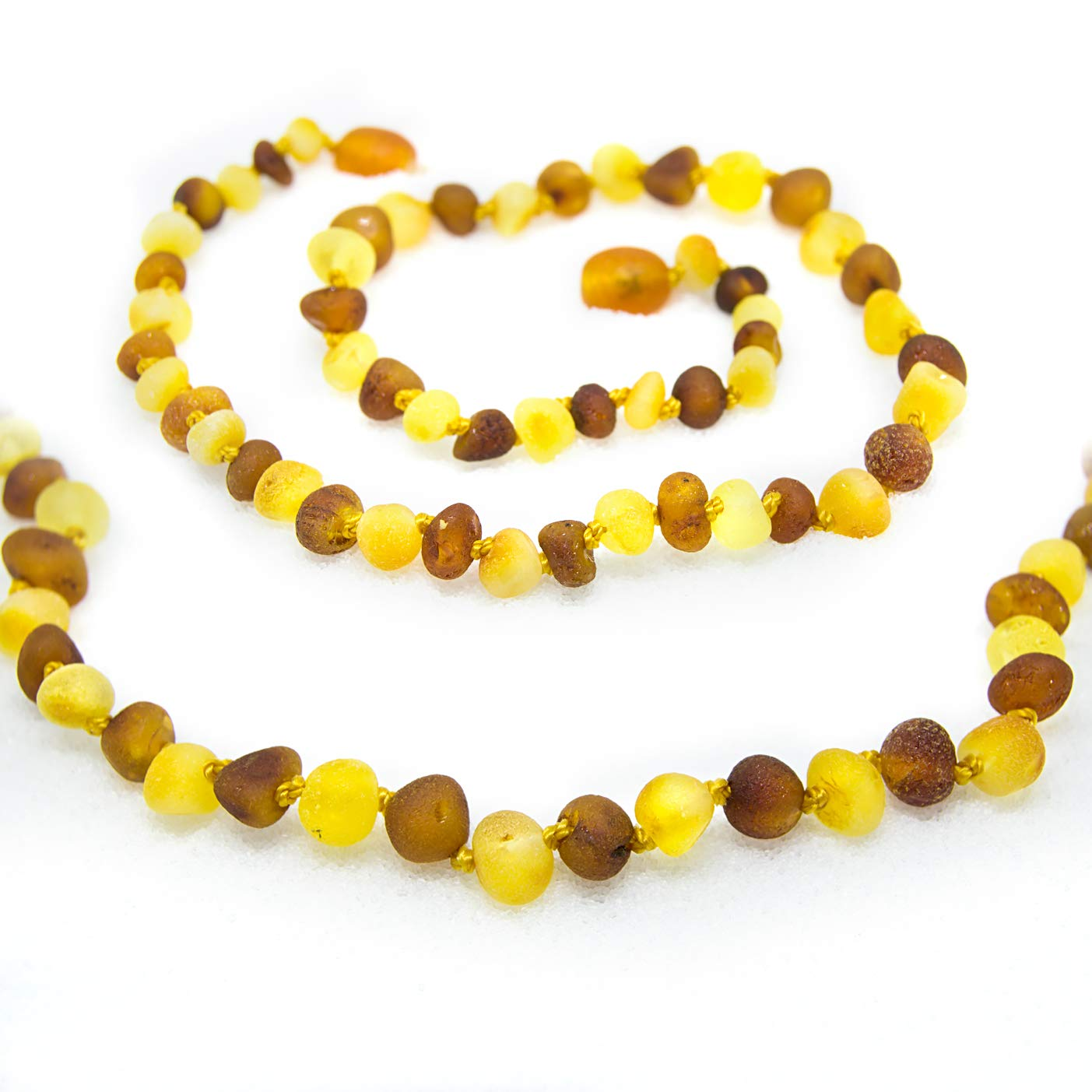 The Art of Cure Baltic Amber Necklace 17 Inch (raw 1x1) - Anti-inflammatory by The Art of Cure