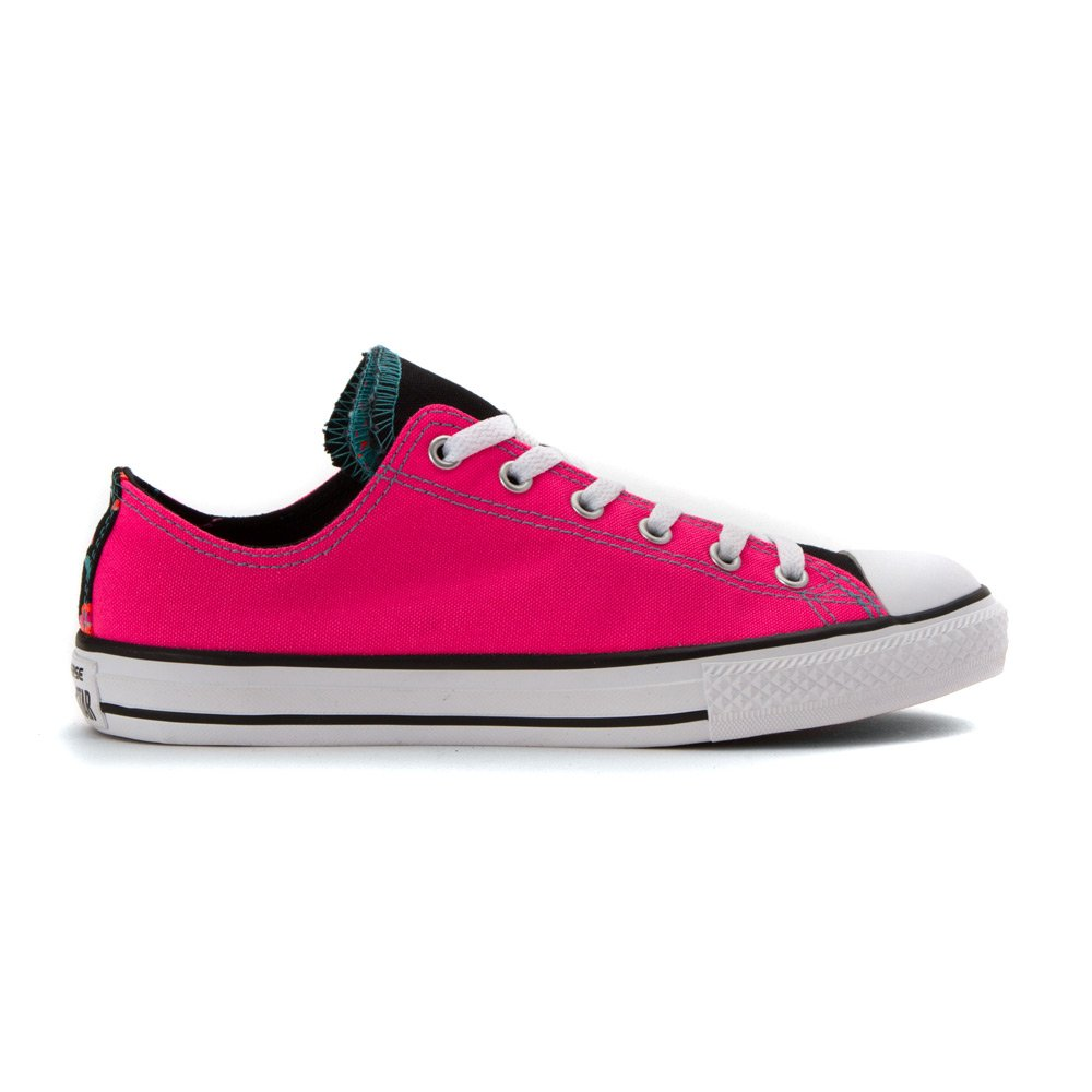 Converse AS Hi Can charcoal Neon 1J793 Unisex Erwachsene Sneaker Neon charcoal Pink Weiß schwarz f15c8c