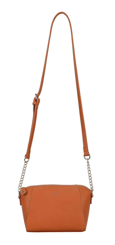 05622de1e3 David Jones - Petit sac à bandoulière Trapeze avec poignée de chaîne en cuir  véritable - Sac de soirée pour femme Sac à main Messenger à la mode Sac à  ...