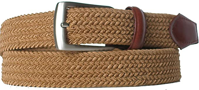 a5fdd0ad92168 Big Men's Fabric Elastic Stretch Belt - Style 0941 at Amazon Men's ...