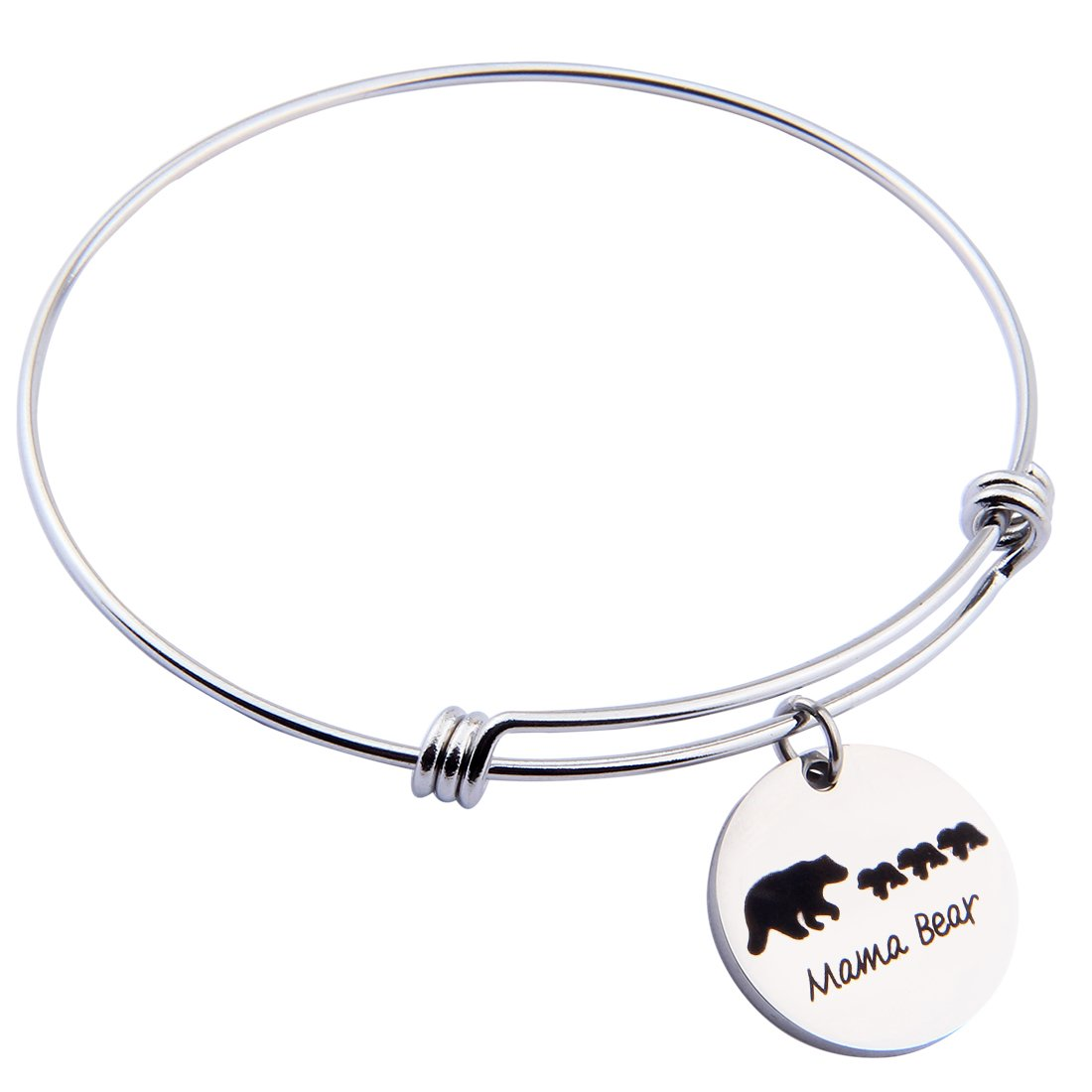 19c55243e Amazon.com: ENSIANTH Sweet Family Mama Bear Adjustable Bracelet Stainless  Steel Bangle Family Jewelry Gift for Mother (1 Cubs Bear): Jewelry