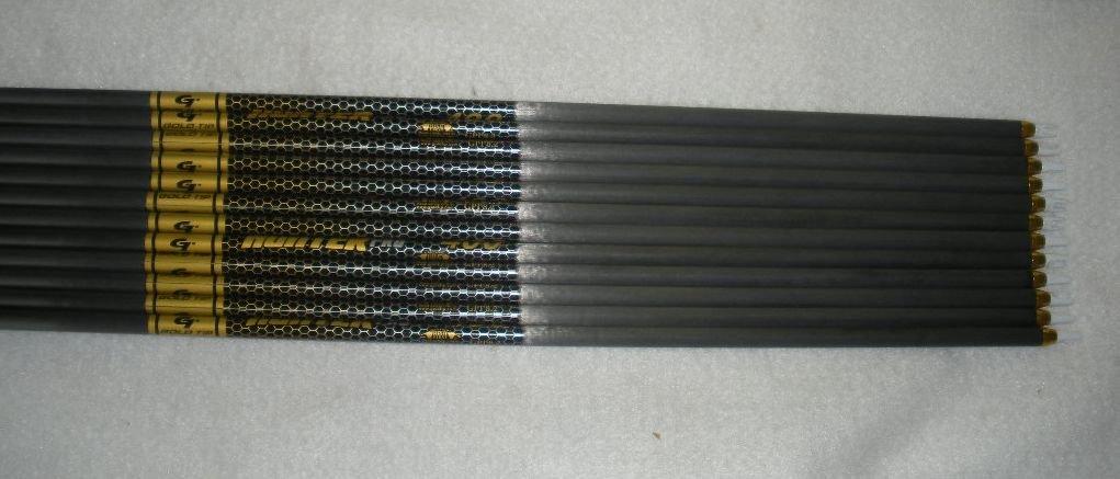 Gold Tip Pro Hunter 300 Carbon Arrows w/Blazer Vanes Blaze Wraps 1 Dz.