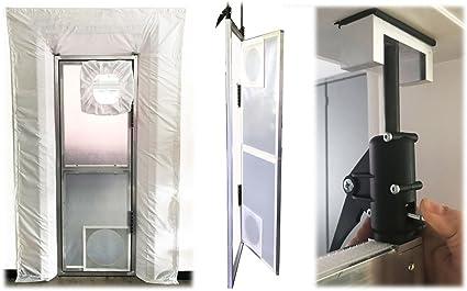 Puerta aluminio colgante Auto Close Premium polvo para todas las puertas estándar Suciedad Schleuse: Amazon.es: Bricolaje y herramientas