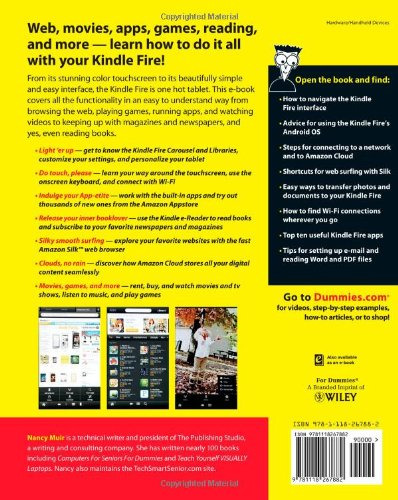 Kindle Fire For Dummies Nancy C Muir 9781118267882 Amazon Books