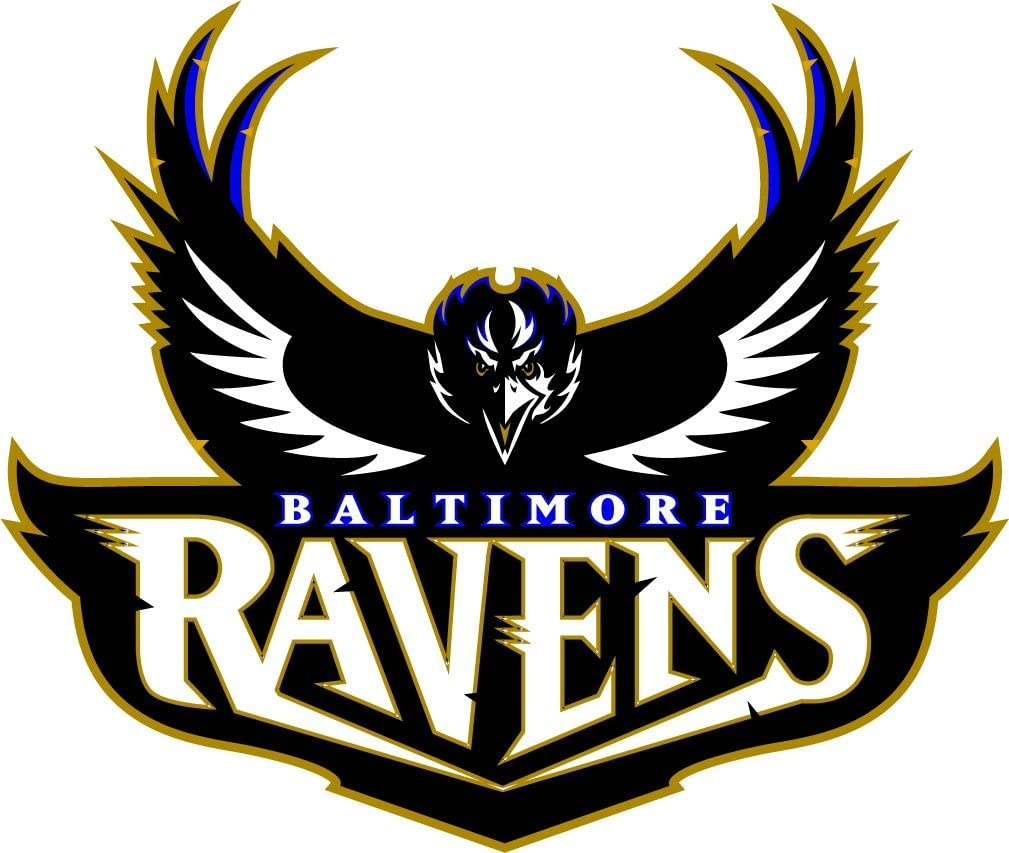 Amazon Com Baltimore Ravens Nfl Football Decal 14 X 12 Kitchen Dining