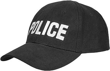 Tiendas LGP Mil-Tec - Police - Gorra Police, Bordada Color Negro ...