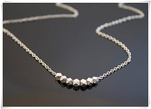 Sterling Silber Nugget Halskette – Geometrische Schmuck, minimalistisch,  feinen Schmuck b1ff3f02b2