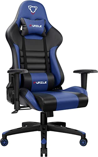Furgle Gaming Chair Racing Style High-Back Office Chair w/3D Adjustable Armrests PU Leather Executive Ergonomic Swivel Video Game Chairs