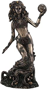 Bronzed Earth Mother Goddess Gaia Statue