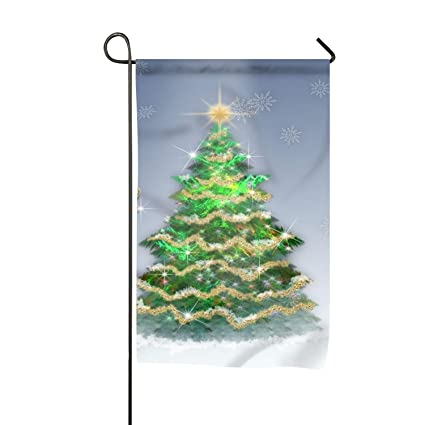 holiday christmas tree garden flag yard decoration 12x18 inches double sided house flag banners outdoor lawn