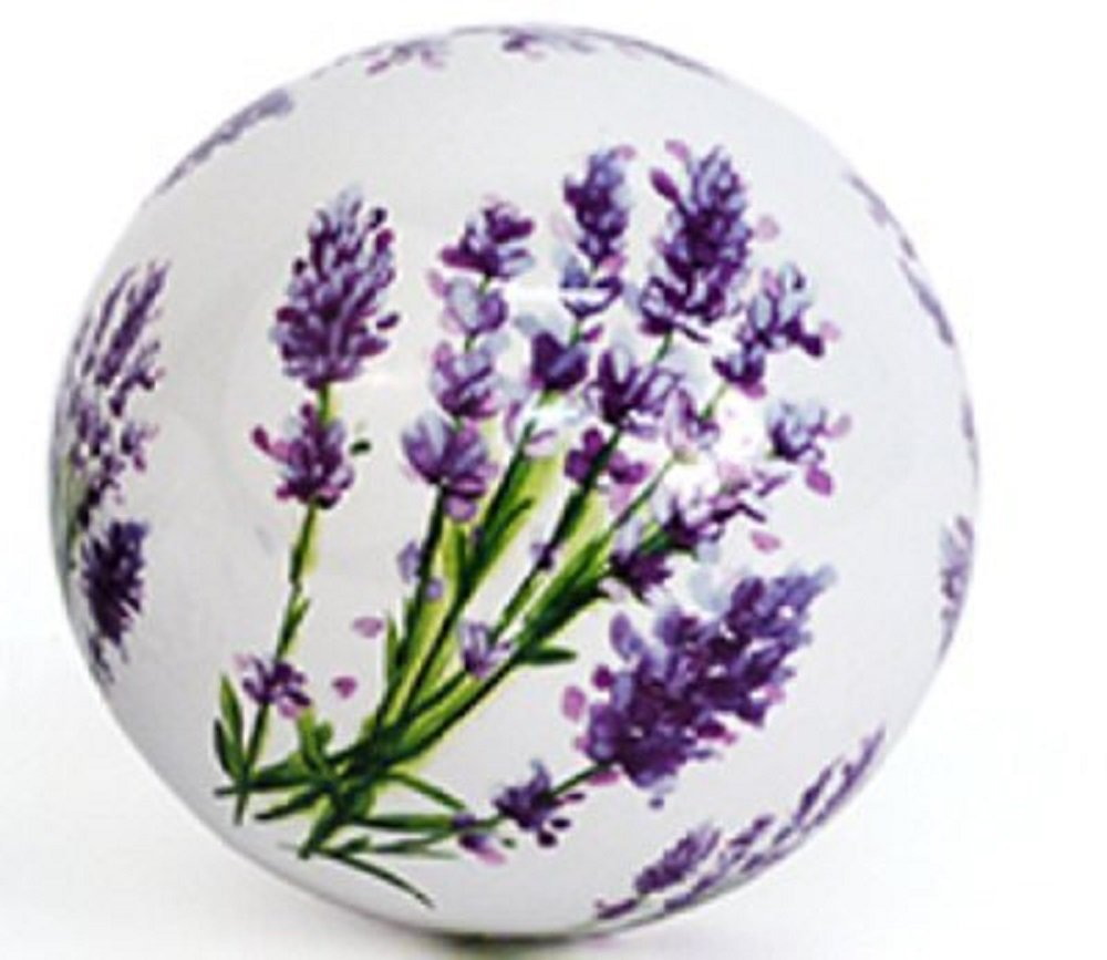 D= 10 cm Unbekannt Schwimmkugel//Dekokugel Lavendel Porzellan