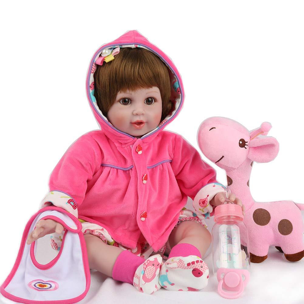 Candyana Renacer muñeca Lindo bebé niño de Juguete 22 Pulgadas 55 cm de Ropa para niños fotografía Foto Props muñecas,color1,55cm