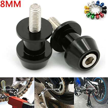 Amazon.com: Motoparty 8mm CNC Swingarm Slider Spools Paddock ...