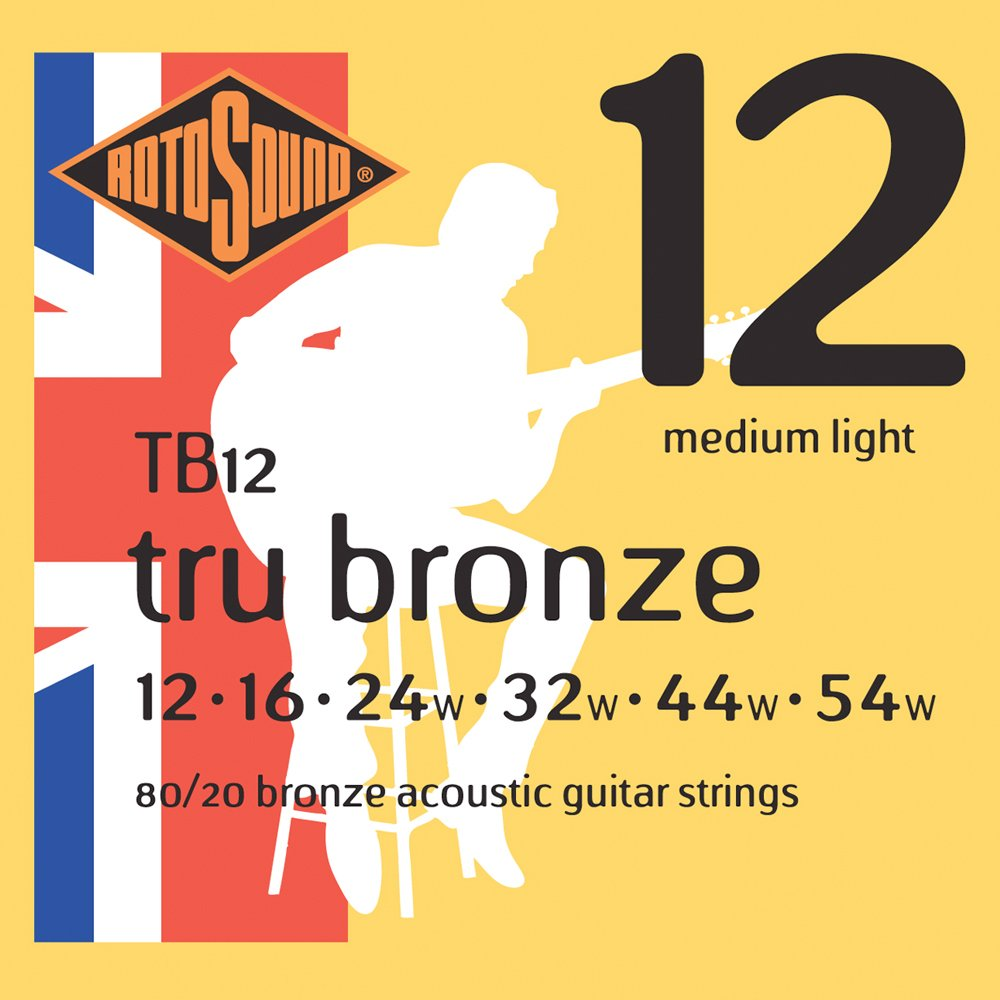 Rotosound TB11 - Juego de cuerdas para guitarra acústica de bronce, 11 15 22 30 42 52: Amazon.es: Instrumentos musicales