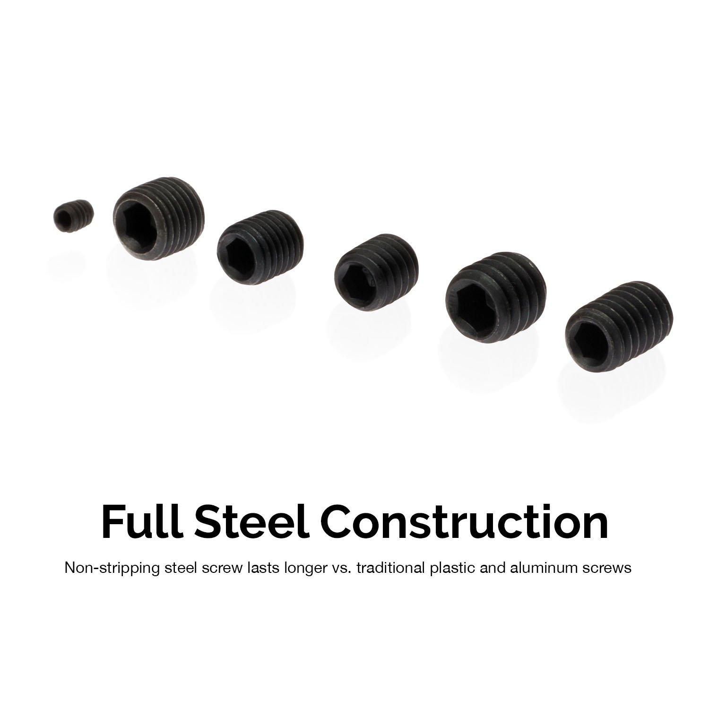 200Piece Coarse /& Fine Thread Screws Included Neiko 50484A Internal Hex Allen Set Screw Assortment Full Steel Construction