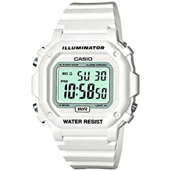 Casio F-108whc-7bef Mens White Digital Watch