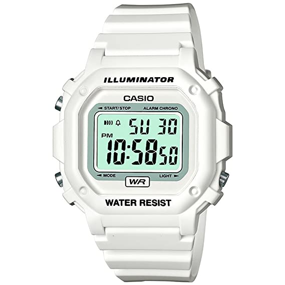Amazon.com: Casio F-108whc-7bef Mens White Digital Watch: classic: Watches