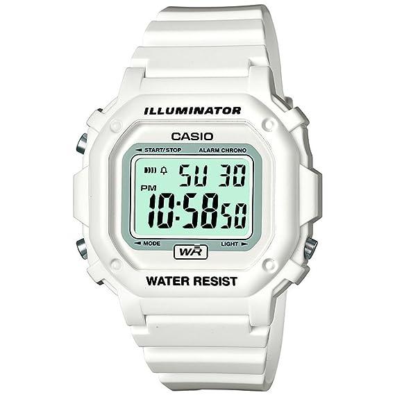 Amazon.com: Casio F-108whc-7bef Mens White Digital Watch: classic: Watches