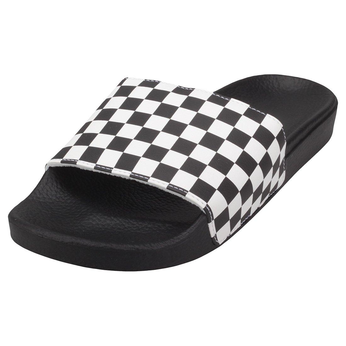 0c150100 Vans Slide-on Checkerboard Mens Sandals White Black - 8 UK
