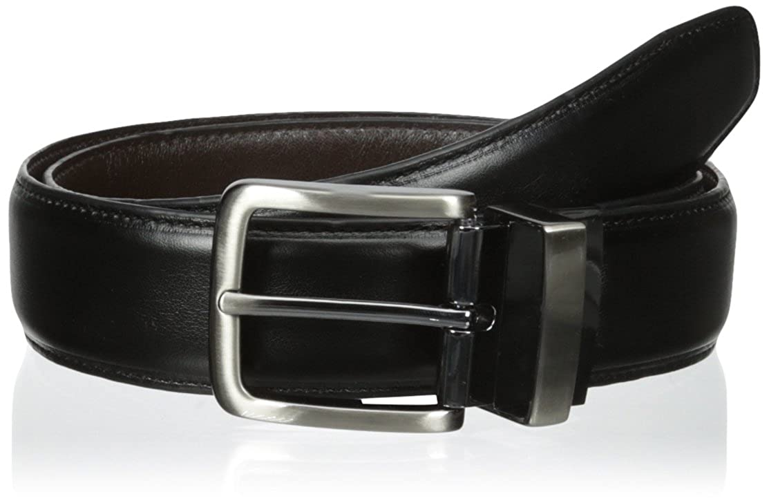 Dockers Mens 1 3//8 in Reversible with Stitch Belt