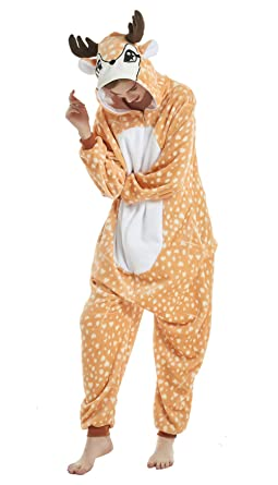ac082c989775 Amazon.com  AooToo Halloween Onesie Costume Animal Deer Cosplay ...