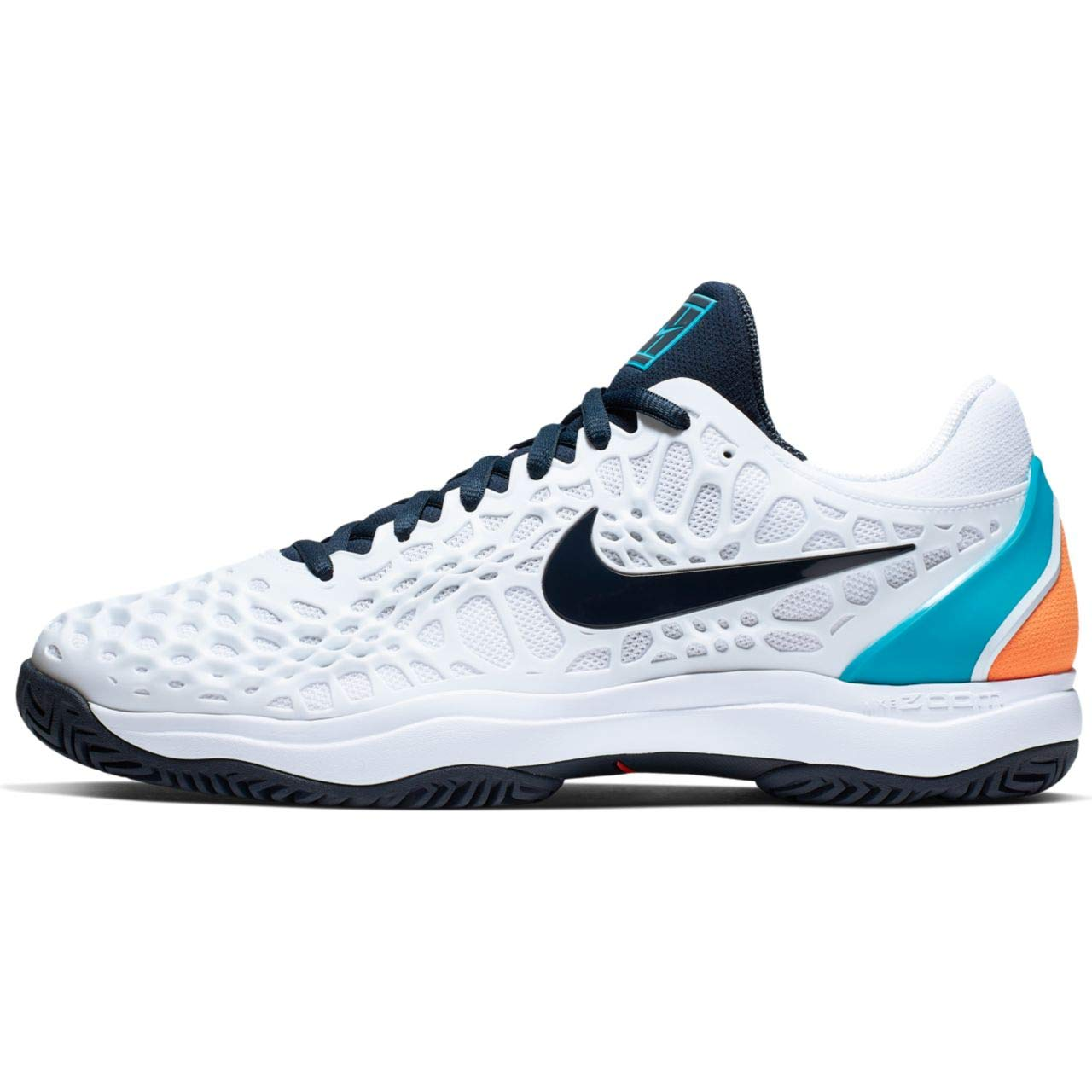 MultiCouleure (blanc Obsidian Light Carbon Lt bleu Fury 000) Nike Air Zoom Cage 3 HC, Chaussures de Tennis Homme 48.5 EU