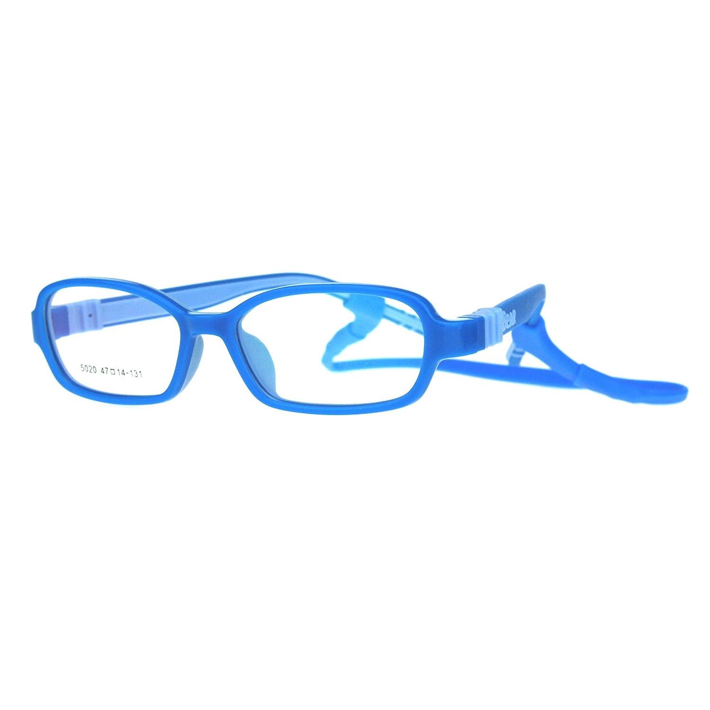 Child Size Soft Rubber Light Plastic Detachable Clip Arm Optical Eye Glasses Frame irs5020-blbl