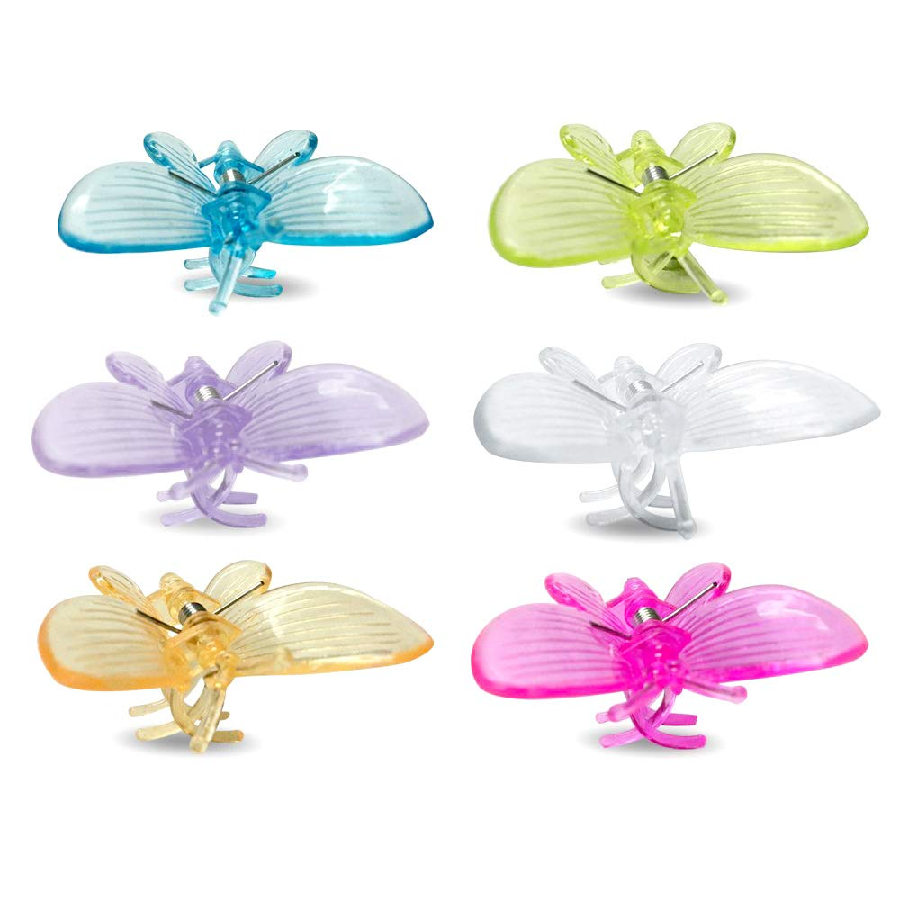 30 Pcs Butterfly Orchid Clips, Plant Clips Garden Support Clips Cute Flower Clips, 6 Colors JH