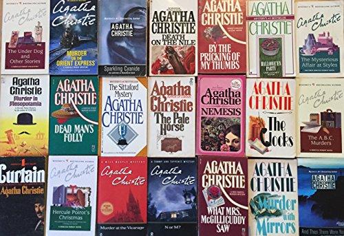 Agatha Christie Murder Mystery Collection 21 Book (Agatha Christie Poirot Halloween)