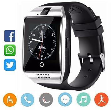 CatShin Reloj Inteligente-Bluetooth Smartwatch Android Samsung Sony IOS Con Ranura para tarjeta SIM Reloj de Deporte Cronómetro Podómetro Anti-Pérdida ...