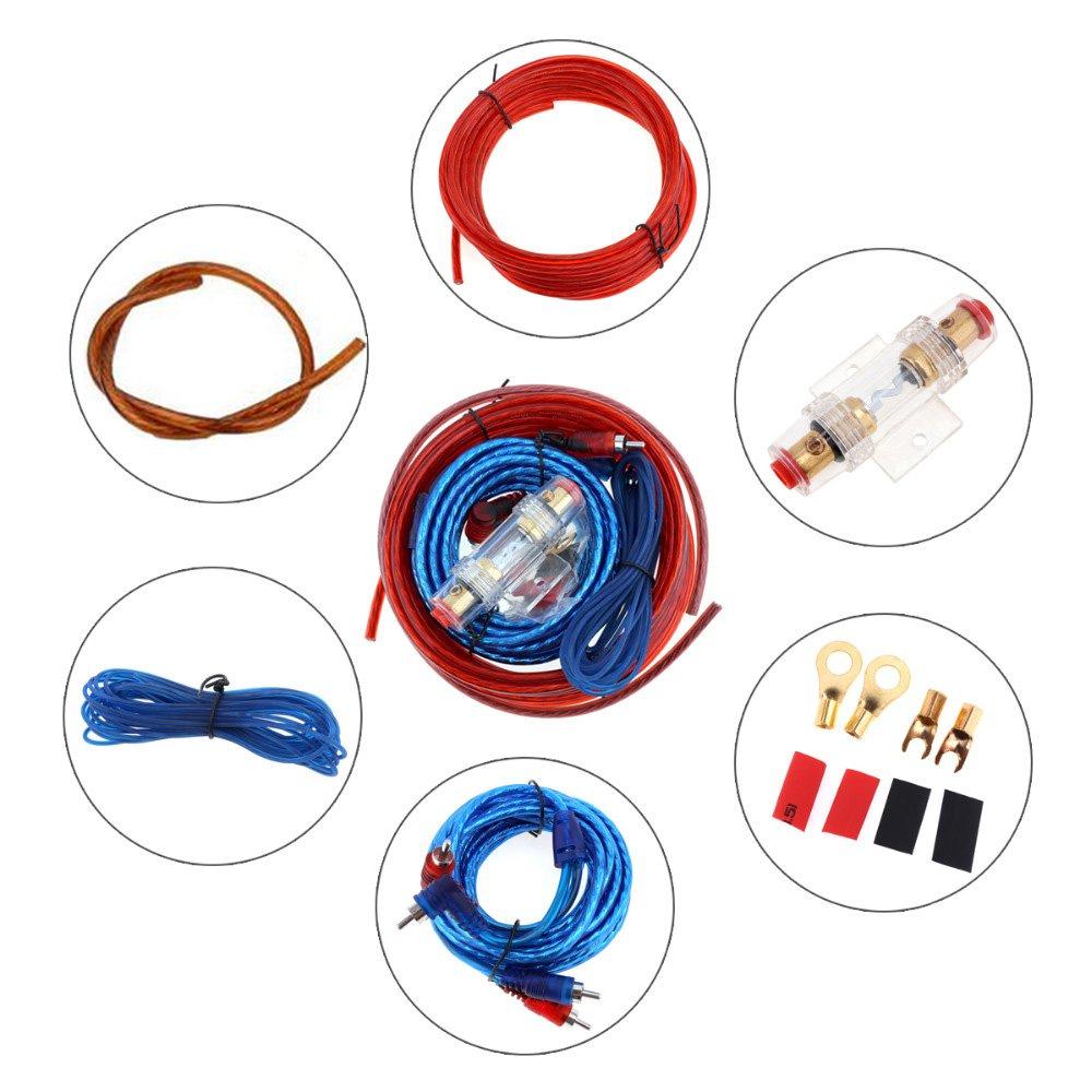 VIGORWORK Universal Car Audio Wire Wiring Amplifier Subwoofer Speaker Installation Kit