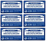 Dr. Bronner's Pure-Castile Bar Soap - Peppermint, 5 oz (6 Pack)