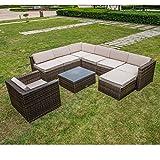 Cheap MAGIC UNION Outdoor Patio PE Rattan Wicker Cushion Patio Furniture 9 Pieces Sofa Sets