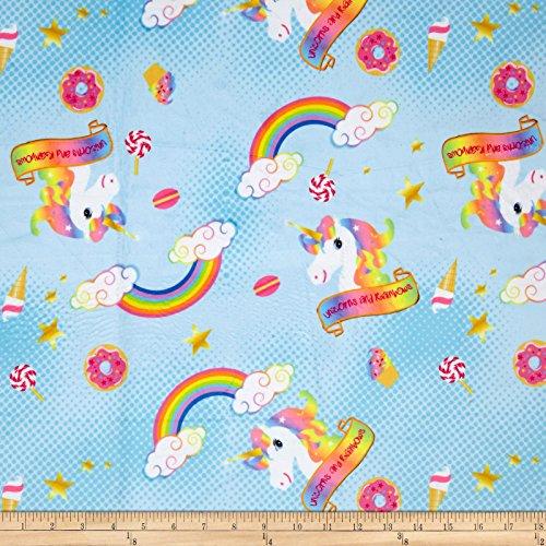 (Michael Miller Minky Dreams Unicorn Magic Pink Fabric by The Yard)
