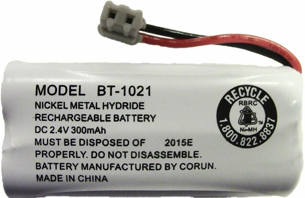 Uniden BT-1021 Replacement Rechargeable Battery For many Uniden Phone Systems and Cordless Handsets, Nickel Metal Hydride Rechargeable Battery, DC 2.4V 300mAh