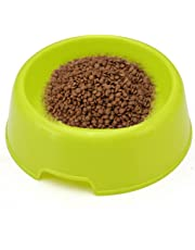 Nikgic - Cuenco de plástico para perro portátil para comida de mascota, cuenco de agua