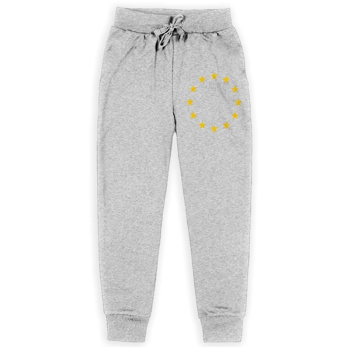 Carrteid EU Flag Boys Fleece Pant Jogger Fleece Pants