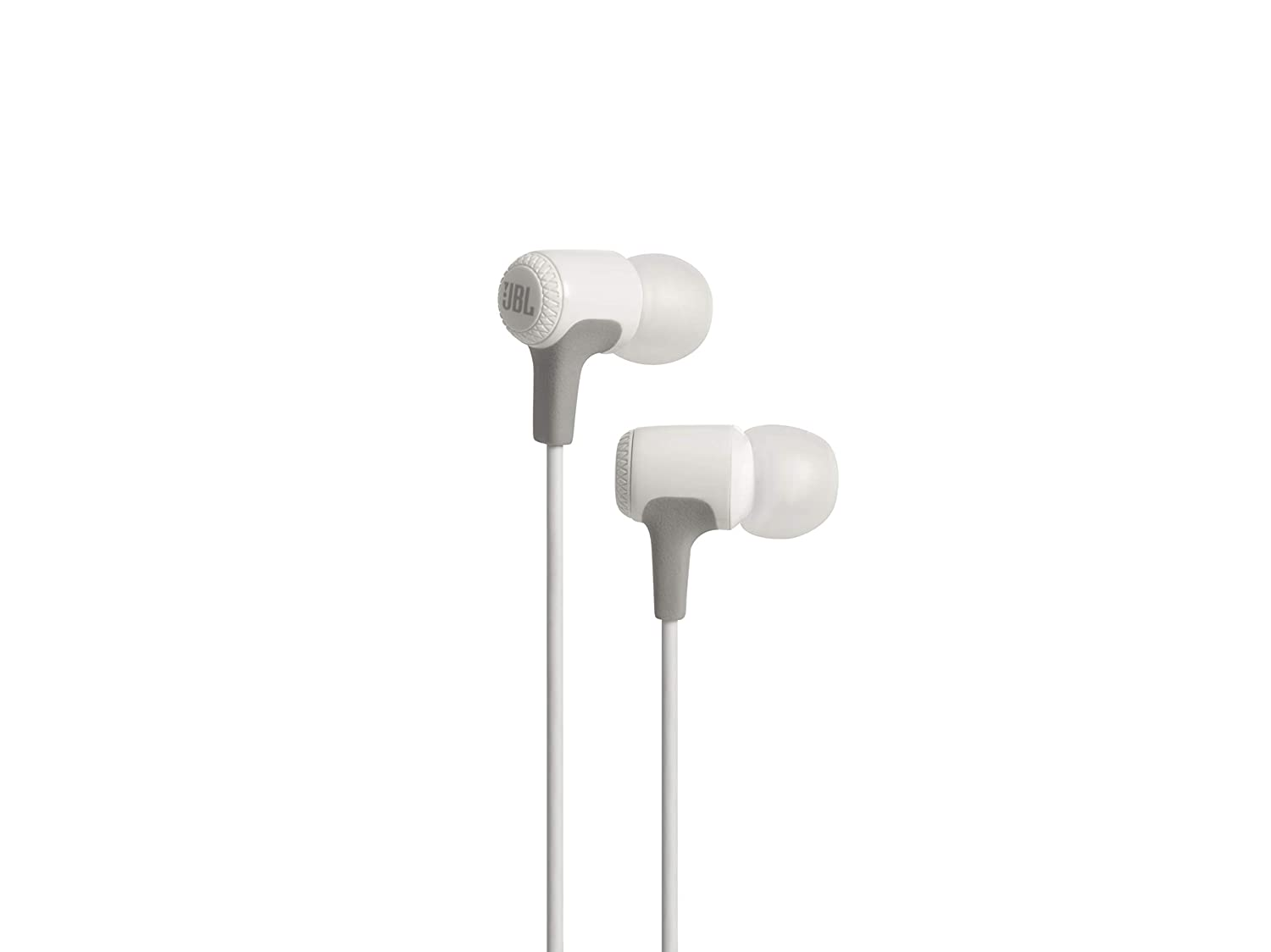 JBL E15 in-Ear Headphones with Mic (White)