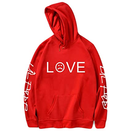 Qiuxiaoaa Lover Streetwear, Unisex Hombre Mujer Sudaderas con Capucha Sudaderas, Hip Hop Rapper Letters