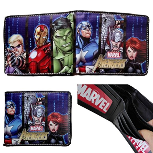 Marvel Comics (Avengers) Leather Bi-Fold Men's Boys Wallet with Gift Box