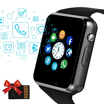 Janker Smart Watch, Bluetooth Smartwatch Unlocked Watch Phone with SIM Card Slot Camera Pedometer Touch Screen Music Player Wrist Watch Android iOS ...