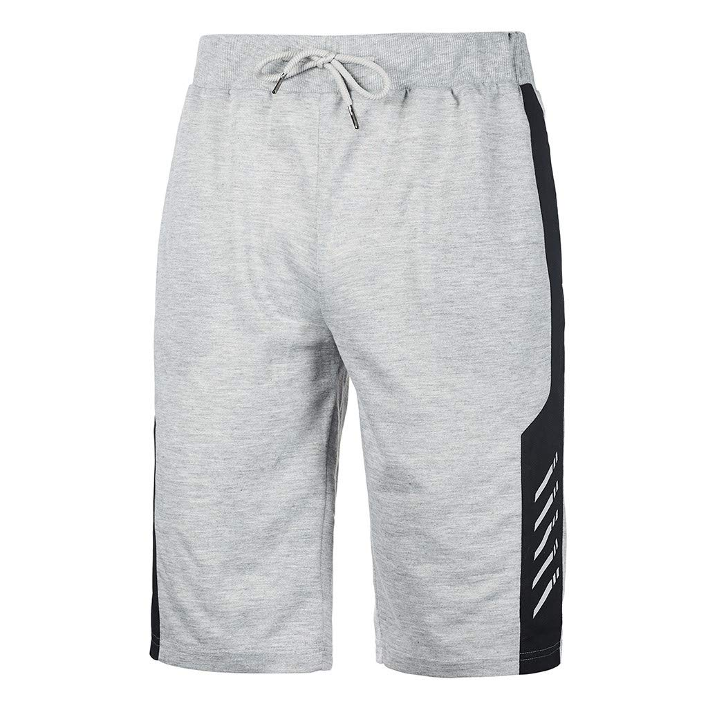 NUWFOR Men's Swimwear Running Surfing Sports Plus Size Beach Shorts Trunks Board Pants XXL Waist:31.1''