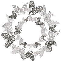 36 Pcs 3D Etiqueta Engomada Mariposa 3 Tamaños Pegatinas Decorar Muebles de Bricolaje Decoracion Boda Decoración del…