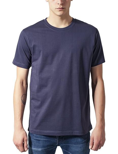 Urban Classics Herren T-Shirt Basic Tee, Blau (Navy 155), X