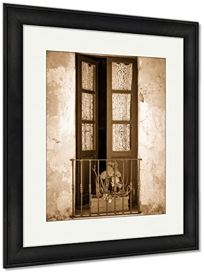 Amazon Ashley Framed Prints Antique Window In Colonia Wall Art